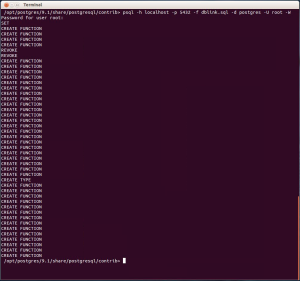Running the dblink.sql script